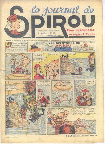 Cover for Le Journal de Spirou (Dupuis, 1938 series) #36/1939