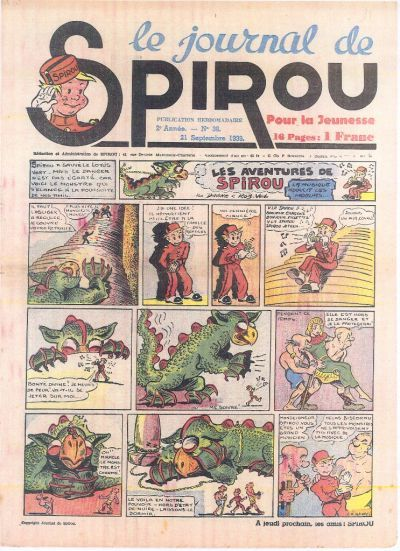 Cover for Le Journal de Spirou (Dupuis, 1938 series) #38/1939