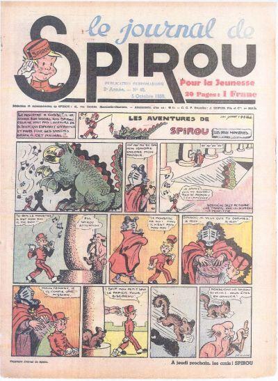 Cover for Le Journal de Spirou (Dupuis, 1938 series) #40/1939
