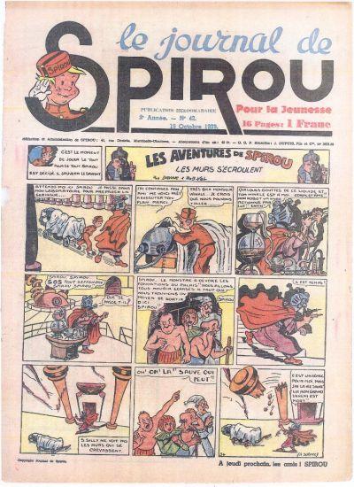 Cover for Le Journal de Spirou (Dupuis, 1938 series) #42/1939
