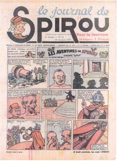 Cover for Le Journal de Spirou (Dupuis, 1938 series) #43/1939