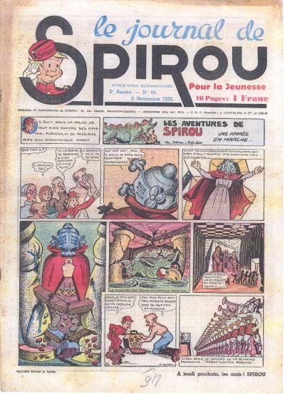 Cover for Le Journal de Spirou (Dupuis, 1938 series) #44/1939