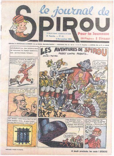 Cover for Le Journal de Spirou (Dupuis, 1938 series) #45/1939
