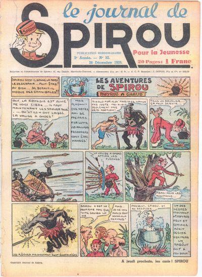 Cover for Le Journal de Spirou (Dupuis, 1938 series) #52/1939