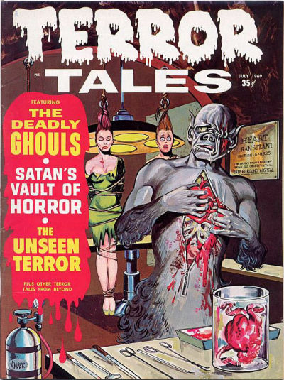 Cover for Terror Tales (Eerie Publications, 1969 series) #v1#9