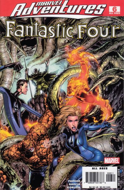 Cover for Marvel Adventures Fantastic Four (Marvel, 2005 series) #6