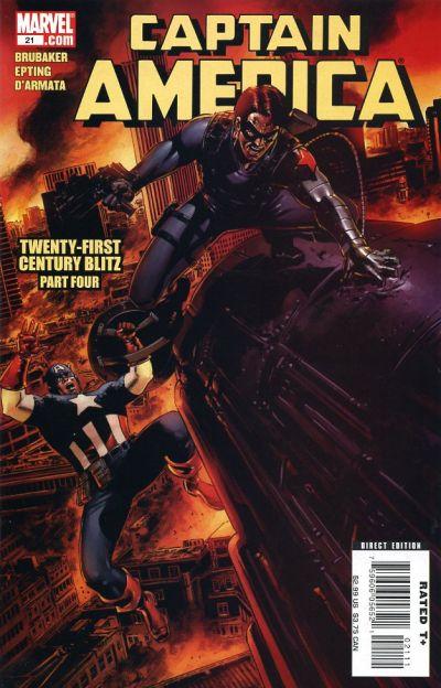 Cover for Captain America (Marvel, 2005 series) #21