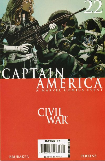 Cover for Captain America (Marvel, 2005 series) #22