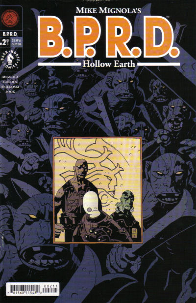 Cover for BPRD: Hollow Earth [B.P.R.D.: Hollow Earth] (Dark Horse, 2002 series) #2