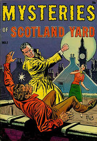 Cover Thumbnail for Mysteries of Scotland Yard (Magazine Enterprises, 1954 series) #1 [A-1 #121]