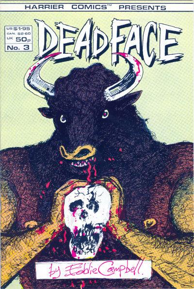 Cover for Deadface (Harrier, 1987 series) #3