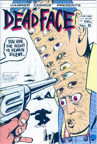 Cover for Deadface (Harrier, 1987 series) #5