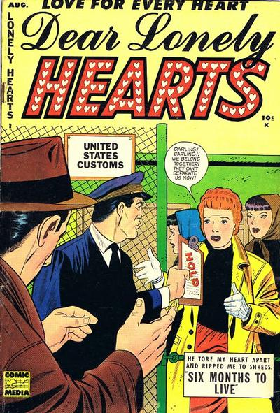 Cover for Dear Lonely Hearts (Comic Media, 1953 series) #1