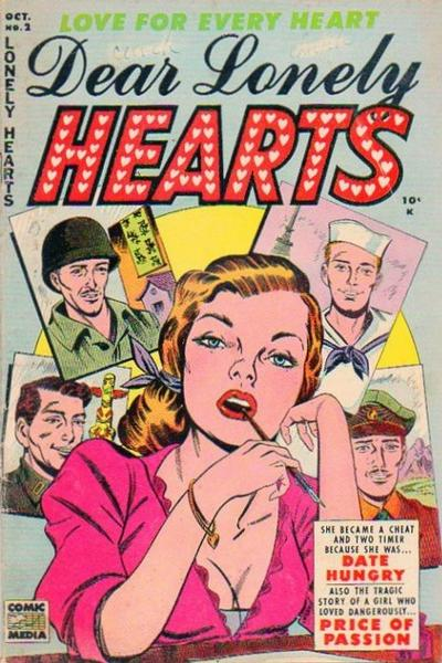 Cover for Dear Lonely Hearts (Comic Media, 1953 series) #2