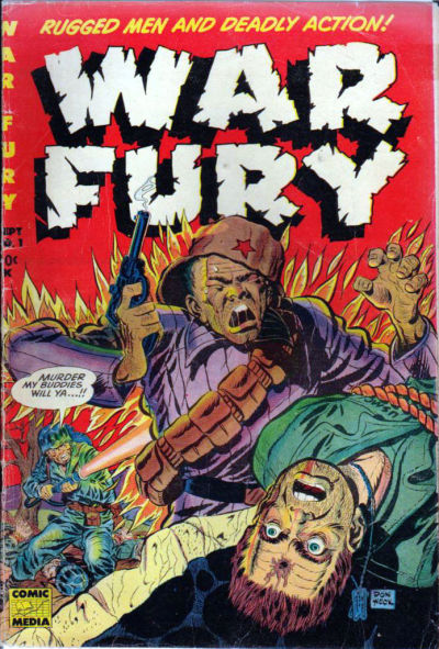 Cover for War Fury (Comic Media, 1952 series) #1