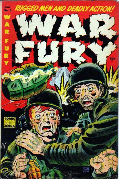 Cover for War Fury (Comic Media, 1952 series) #3