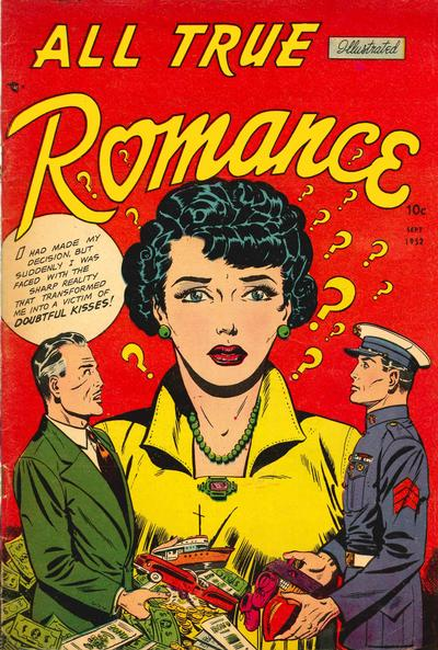Cover for All True Romance (Comic Media, 1951 series) #7