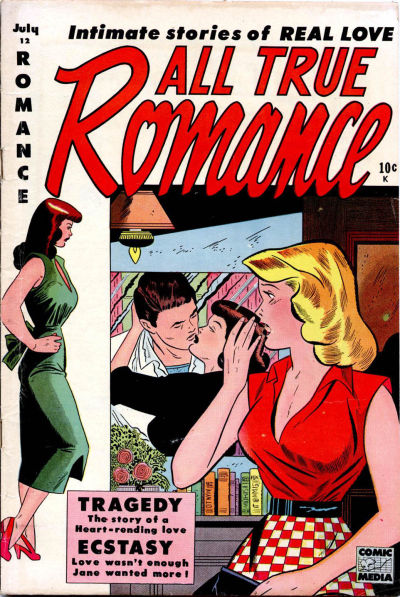 Cover for All True Romance (Comic Media, 1951 series) #12