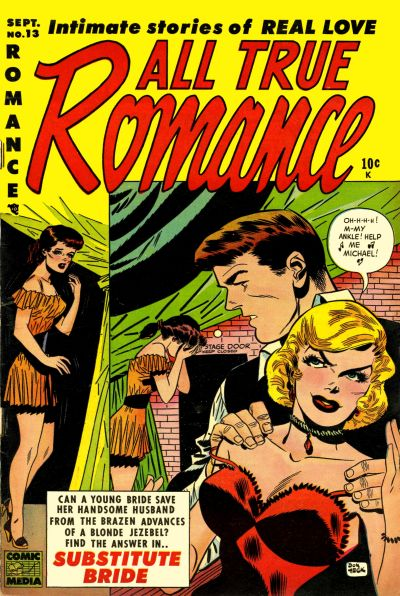 Cover for All True Romance (Comic Media, 1951 series) #13