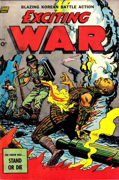 Cover for Exciting War (Pines, 1952 series) #6