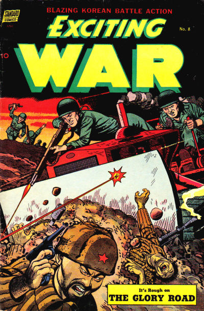 Cover for Exciting War (Pines, 1952 series) #8
