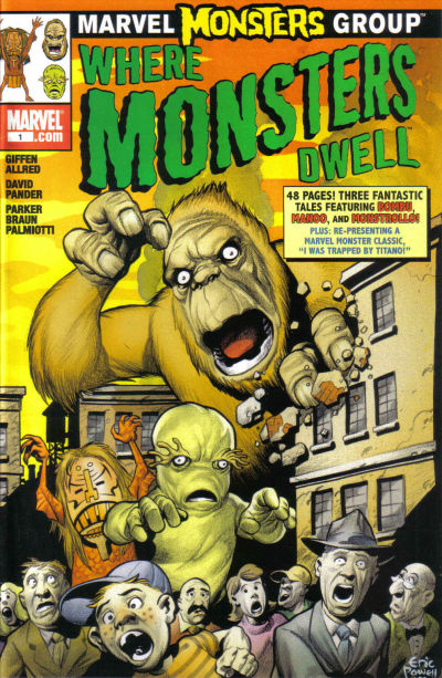 Cover for Marvel Monsters: Where Monsters Dwell (Marvel, 2005 series) #1