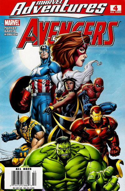 Cover for Marvel Adventures The Avengers (Marvel, 2006 series) #4 [Newsstand Edition]