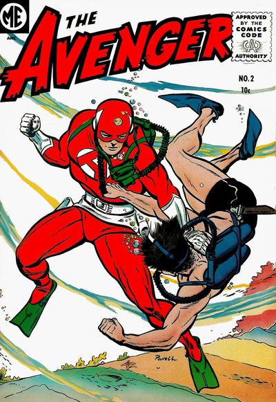 Cover for The Avenger (Magazine Enterprises, 1955 series) #2 [A-1 #131]