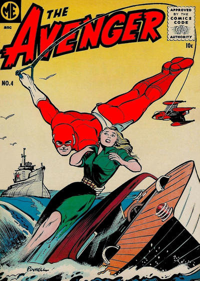 Cover for The Avenger (Magazine Enterprises, 1955 series) #4 [A-1 #138]