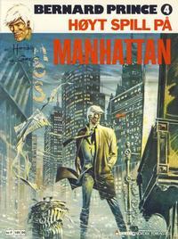 Cover Thumbnail for Bernard Prince (Semic, 1979 series) #4 - Høyt spill på Manhattan