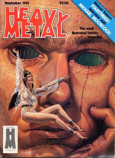 Cover for Heavy Metal Magazine (Heavy Metal, 1977 series) #v6#8