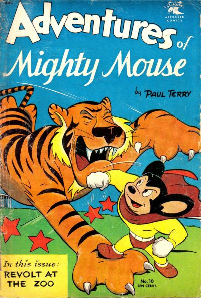 Cover for Adventures of Mighty Mouse (St. John, 1952 series) #10