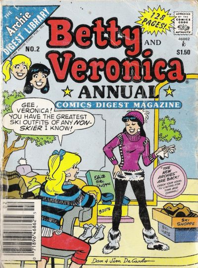 Cover for Betty and Veronica Annual Digest Magazine (Archie, 1989 series) #2