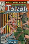 Cover for Tarzan (Marvel, 1977 series) #26 [Newsstand]