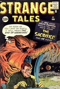 Cover for Strange Tales (Marvel, 1951 series) #91