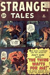 Cover Thumbnail for Strange Tales (Marvel, 1951 series) #92