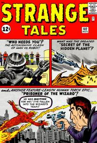 Cover Thumbnail for Strange Tales (Marvel, 1951 series) #102