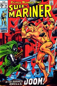 Cover for Sub-Mariner (Marvel, 1968 series) #20 [British price variant]