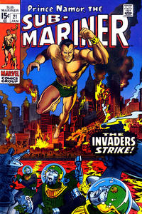 Cover Thumbnail for Sub-Mariner (Marvel, 1968 series) #21 [Regular Edition]