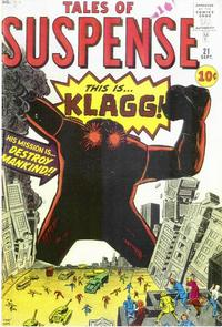 Cover for Tales of Suspense (Marvel, 1959 series) #21