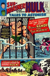Cover for Tales to Astonish (Marvel, 1959 series) #70