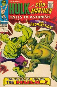 Cover Thumbnail for Tales to Astonish (Marvel, 1959 series) #91