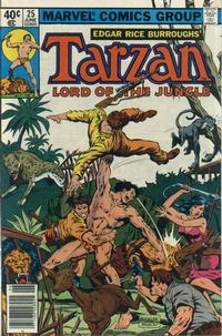 Cover Thumbnail for Tarzan (Marvel, 1977 series) #25 [Newsstand]