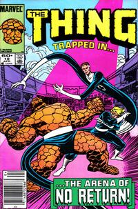Cover Thumbnail for The Thing (Marvel, 1983 series) #10 [Newsstand Edition]
