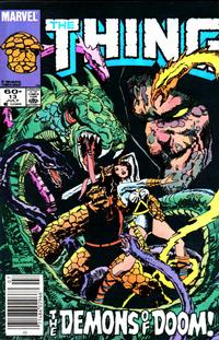 Cover Thumbnail for The Thing (Marvel, 1983 series) #13 [Newsstand Edition]