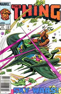 Cover Thumbnail for The Thing (Marvel, 1983 series) #14 [Newsstand Edition]