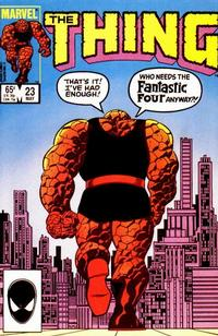 Cover Thumbnail for The Thing (Marvel, 1983 series) #23 [Direct]