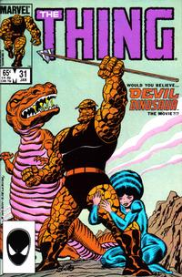 Cover Thumbnail for The Thing (Marvel, 1983 series) #31 [Direct Edition]