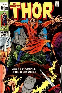 Cover Thumbnail for Thor (Marvel, 1966 series) #163 [Regular Edition]