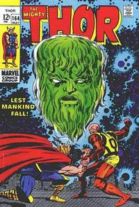 Cover Thumbnail for Thor (Marvel, 1966 series) #164 [Regular Edition]